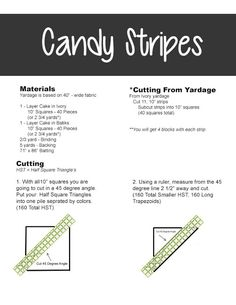Lets Quilt Something: Candy Strip - Free Quilt Pattern - Layer Cake