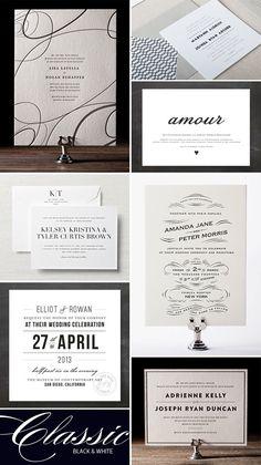 Classic Black & White Wedding Invitations