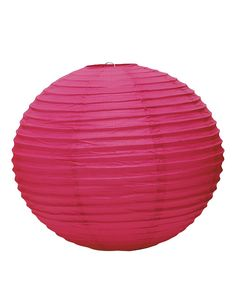 Paper Globe Lanterns in the Color Fuchsia. Choice of Three Sizes and 12 Colors.