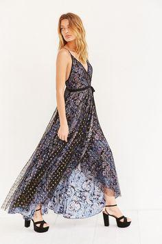Ecote Paisley Wrap Maxi Dress