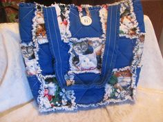 $25.00 Kitty Cat Inspired Tote Bag / Hand Bag/ by morethanbearscrafts