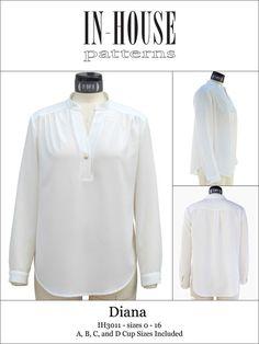 Digital Diana Blouse Sewing Pattern | Shop | Oliver + S