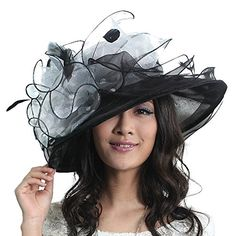 June's young summer elegant flower women hats wide brim sun hat (black/white) June's Young http://www.amazon.com/dp/B00NHAGBGM/ref=cm_sw_r_pi_dp_QcAnvb1SEG7PH