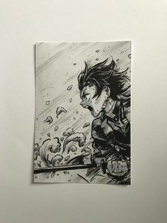 Zenitsu Form Kimetsu No Yaibu (Different expression) Anime Drawings Sketches, Anime Sketch, Art Drawings, Manga Art, Manga Anime, Anime Art, Male Manga, Demon Slayer, Slayer Anime