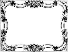 Vintage Ornate Border Frame Free Clip Art Image Oh So Nifty - Clipart Suggest Antique Frames, Vintage Frames, Vintage Prints, Holiday Photo Frames, Vintage Clip Art, Frame Border Design, Pyrography Patterns, Victorian Frame, Vintage Borders