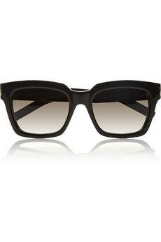 Bold 1 square-frame acetate sunglasses by: Saint Laurent