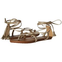 Billabong Around the Sun Sandal (Rose Gold Multi) Women's Sandals ($30) ❤ liked on Polyvore featuring shoes, sandals, strappy sandals, lace up shoes, rose gold sandals, long gladiator sandals and lace up gladiator sandals