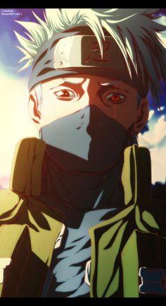 Kakashi Hatake do anime Naruto. Kakashi Sharingan, Naruto Shippuden Sasuke, Naruto Kakashi, Anime Naruto, Naruto Art, Manga Anime, Sasuke Sakura, Naruto Tumblr, Sharingan Eyes