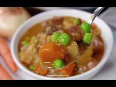 This warm, savory crock pot beef stew blends everything you want your family to eat with tantalizing flavor that brings them running and satisfies the soul. Beef Stew Crockpot Easy, Hearty Beef Stew, Crock Pot Soup, Crock Pot Cooking, Crockpot Recipes, Cooking Recipes, Beef Recipes For Dinner, Warm, Running