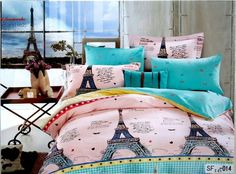 Eiffle tower in your room 100% Cotton bedsheet