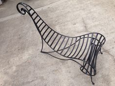 Mid century wrought iron spine chair