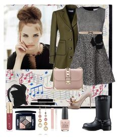 """New Years Eve Dinner"" by denibrad ❤ liked on Polyvore featuring RED Valentino, Valentino, Christian Dior, Smith & Cult, Ippolita, Forever New and OPI"