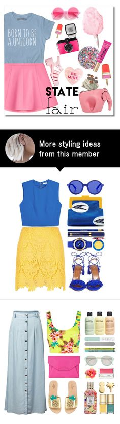 """""""The State Fair"""" by stavrolga on Polyvore featuring Deborah Lippmann, Loewe, Too Faced Cosmetics, RED Valentino, F, JuJu, Kate Spade, statefair, polyvoreeditorial and polyvorecontest"""