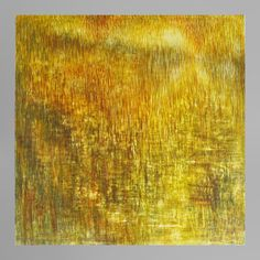 For Sale on - Rupert Muldoon. Egg tempera on gesso panel. Yellow and golden colours. Rupert Muldoon: 'Golden Waters is the first painting where I chose just Colour Field, River Bank, Tempera, Gustav Klimt, Golden Color, Picture Collection, Stock Pictures, Contemporary, Modern