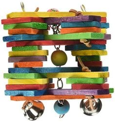 Super-Bird-Creations-11-by-7-Inch-Woodpile-Bird-Toy-Large