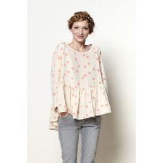 blouse Goutte pompon @ DES PETITS HAUTS
