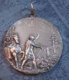Medal Saint Constantine Saint Helen Pope Pius X Signed KIssing SS535