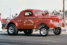 gassers of 1960s | Note the tail pipes and the license plate on the back of the Willys ...