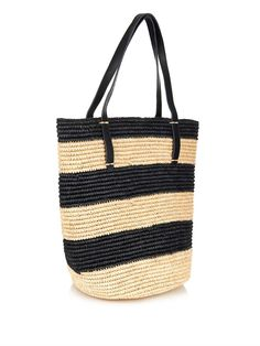 Sensi Studio Maxi straw striped tote