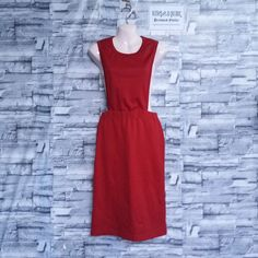 f77116280182 Comme des Garcons Red Rompers Overall Jumpsuit Skirt Polyester Japan Size  XS.  fashion