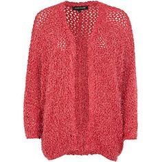 Pink long sleeve fluffy cardigan £40.00