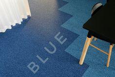 Color of the Week: blue by @detaljee #officeinterior #interiordesign #blue #carpet #detaljee