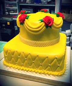 Beauty and the Beast Tiered Cake - Adrienne & Co. Bakery