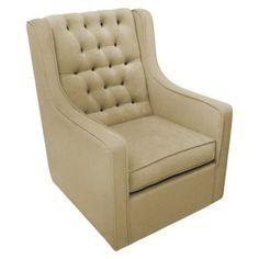 Rockabye Glider Co. Bella Velvet Grande Glider Chair - Coffee