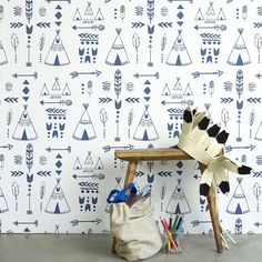 Hibou Home Teepees wallpaper