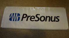 "Rare PreSonus Pro Audio Banner 47"" x 17.5"" by EsthersEssentials13 on Etsy"