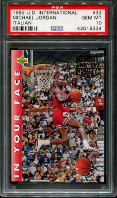 6b017a3773c 1992 UPPER DECK INTERNATIONAL ITALIAN  33 MICHAEL JORDAN HOF PSA 10  K2632539-334