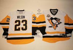 Scott Wilson NEW away Pittsburgh Penguins Reebok Hockey Jersey w/50th patch  #Reebok #PittsburghPenguins