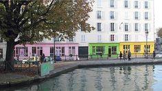 Les devantures colorées d'Antoine et Lili, quai de Valmy - Canal St Martin