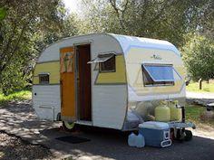Vintage trailer.  I want one!!