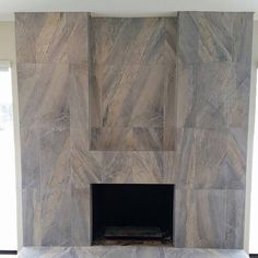 Modern Tile Fireplace Surround. FliesenkaminKamin Umgibt