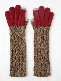 love these Free People Contrast Cable Long Gloves!! C$47.75