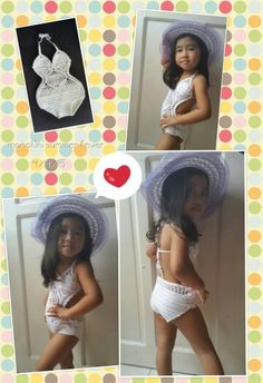 Crochet monokini for kids and babies More at www.facebook.com/craftsnreveries