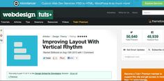 Improving Layout With Vertical Rhythm