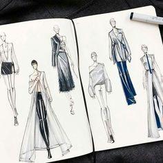 Fashion sketches illustration moda 21 new ideas Fashion Design Sketchbook, Fashion Design Portfolio, Fashion Illustration Sketches, Illustration Mode, Fashion Design Drawings, Fashion Sketches, Medical Illustration, Paper Fashion, Fashion Art