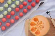 Brighten Up Summer Drinks with Melon Ball Ice Cubes — Tips from The Kitchn | The Kitchn