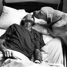 Dog saying goodbye to his mama <3
