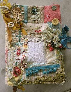 Pam Garrison fabric journal-love!!