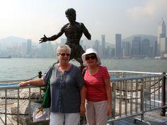 Posing with Bruce, Hong Kong - November 2010