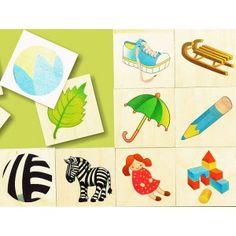 Bajo 91670 - Układanka Memos ZOOM - Gra zawiera 32 Karty ze Zwierzątkami dla Dzieci 2+