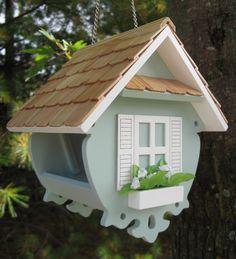 Een TE schattig voerderhuisje voor de vogels