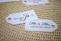 Gastgeschenke - 8 Anhänger Hochzeit, Save the Date - ein Designerstück von La-belle-vie-4you bei DaWanda