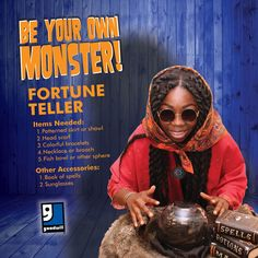 Is this look in your future? DIY Fortune Teller costume - #BeYourOwnMonster this Halloween with a little help from Goodwill!