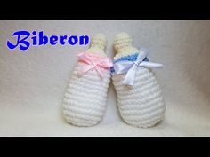 Biberon all'uncinetto - Tutorial idea Bomboniera nascita/Battesimo - Crochet baby bottle - YouTube
