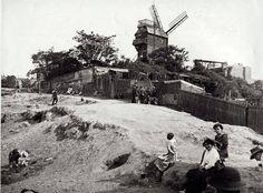 Montmartre et le Moulin de la Galette en 1912....reépinglé par Maurie Daboux ❥•*`*•❥