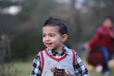 Christmas photography. Little boy photo